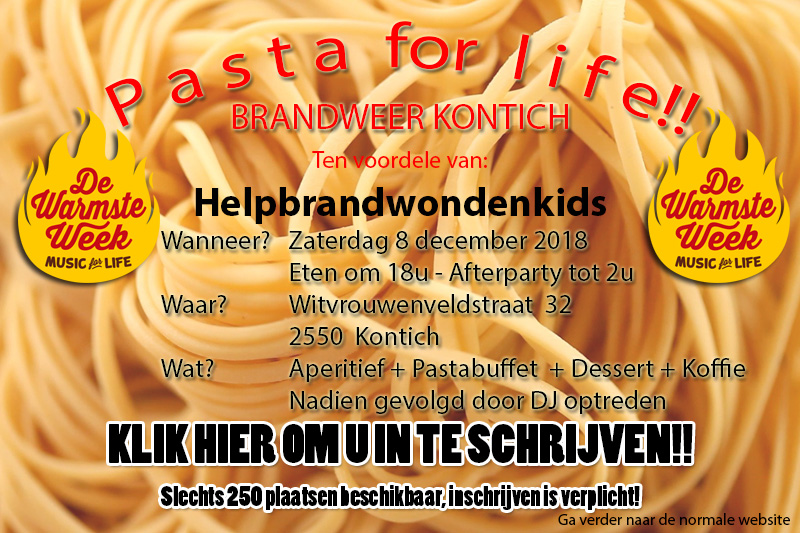 PASTA FOR LIFE 2018